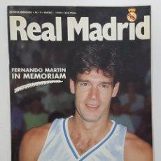 Coleccionismo deportivo: REVISTA REAL MADRID Nº 9 1990. FERNANDO MARTIN BIOGRAFÍA(SIN POSTER), BUYO, PEÑA MADRIDISTA SANT BOI. Lote 245023445