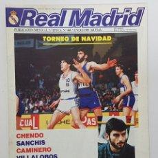Coleccionismo deportivo: REVISTA REAL MADRID Nº 460 1989. POSTER ALDANA. CHENDO, SANCHIS, PEREZ CAMINERO, VILLALOBOS. Lote 245025310