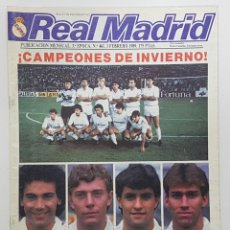 Coleccionismo deportivo: REVISTA REAL MADRID Nº 461 1989. POSTER ESTEBAN. AGUSTIN, MARTIN VAZQUEZ, FERNANDO MARTIN ENTREVISTA. Lote 245025755
