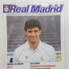 Coleccionismo deportivo: REVISTA REAL MADRID Nº 449 1988. ENTREVISTAS BUYO, CHENDO,ARAGON,DEL BOSQUE,BIRIUKOV,DEL CORRAL,LOLO. Lote 245027955