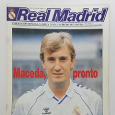 Coleccionismo deportivo: REVISTA REAL MADRID Nº 439 1987. MACEDA,MINO, PARDEZA, JUANITO, LORENZO Y MANUEL UTILLEROS, CARGOL. Lote 245093250