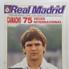 Coleccionismo deportivo: REVISTA REAL MADRID Nº 440 1987. MICHEL, SANCHIS, BUTRAGUEÑO, BRANSON, GARCIA REMÓN, ROMAY. Lote 245094475