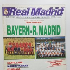 Coleccionismo deportivo: REVISTA REAL MADRID Nº 441 1987. CHENDO,SANTILLANA,MARTIN VAZQUEZ,ITURRIAGA,PEÑA MADRIDISTA BOLICHE. Lote 245095350