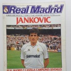 Coleccionismo deportivo: REVISTA REAL MADRID Nº 442 1987. JANKOVIC, SOLANA, BAYERN MUNICH COPA EUROPA, MINO, CORBALAN. Lote 245096180