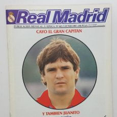 Coleccionismo deportivo: REVISTA REAL MADRID Nº 443 1987. BUTRAGUEÑO, POSTER PARDEZA, XXV TORNEO SOCIAL, PEÑA HALA MADRID. Lote 245097025