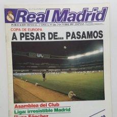 Coleccionismo deportivo: REVISTA REAL MADRID Nº 446 1987. POSTER BALONCESTO, HUGO SANCHEZ, MARTIN VAZQUEZ, NAPOLES. Lote 245100465