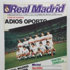 Coleccionismo deportivo: REVISTA REAL MADRID Nº 447 1987. MICHEL, GORDILLO, TENDILLO, ITURRIAGA,ANTONIO MARTIN, PEÑA ALMANSA. Lote 245101500