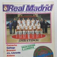 Coleccionismo deportivo: REVISTA REAL MADRID Nº 448 1987. CAMACHO, GALLEGO, 0-4 ATLETICO DE MADRID, LLORENTE,ALDANA, BRANSON. Lote 245103235