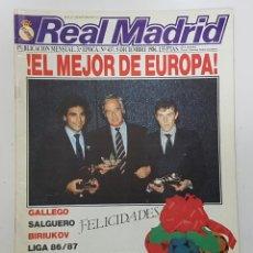 Coleccionismo deportivo: REVISTA REAL MADRID Nº 437 1986. ENTREVISTAS: GALLEGO, SALGUERO, BIRIUKOV. MARADONA EN EL BERNABEU. Lote 245113855