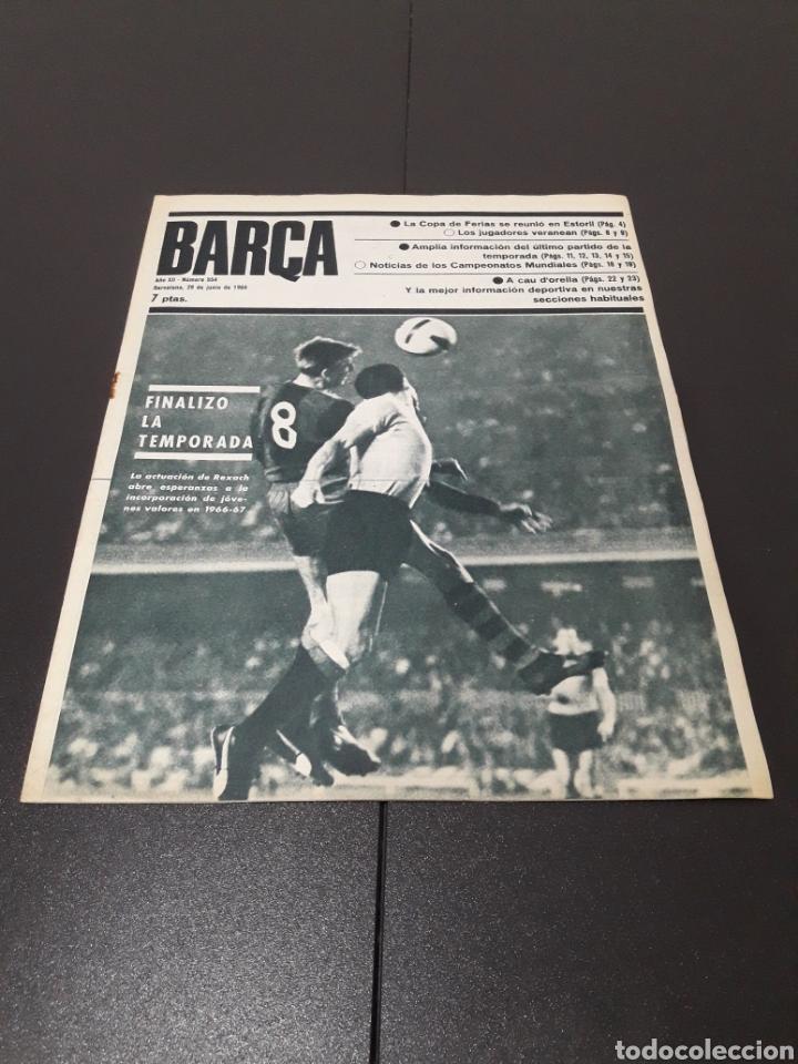 REVISTA BARÇA. N° 554. JUNIO 1966. (Coleccionismo Deportivo - Revistas y Periódicos - otros Fútbol)