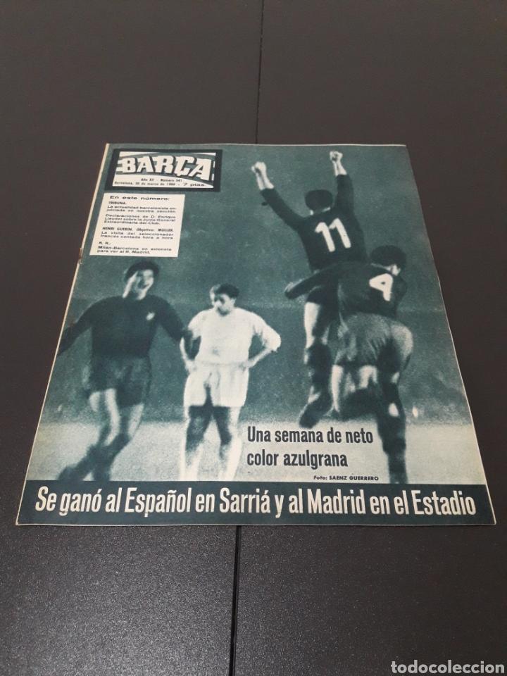 REVISTA BARÇA. N° 541. MARZO 1966. (Coleccionismo Deportivo - Revistas y Periódicos - otros Fútbol)