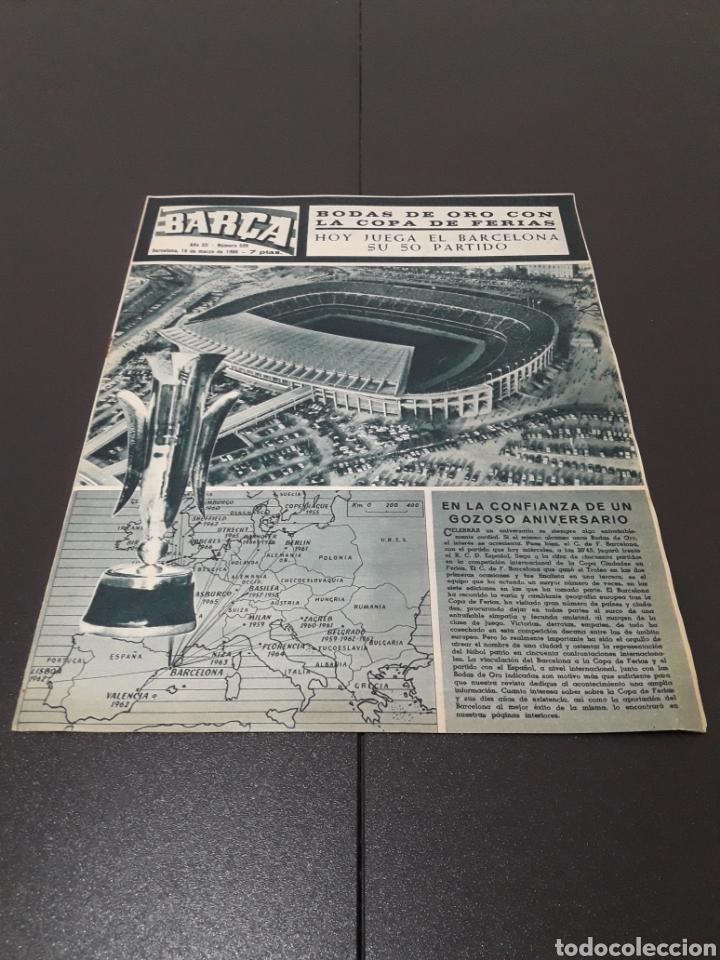 REVISTA BARÇA. N° 539. MARZO 1966. (Coleccionismo Deportivo - Revistas y Periódicos - otros Fútbol)