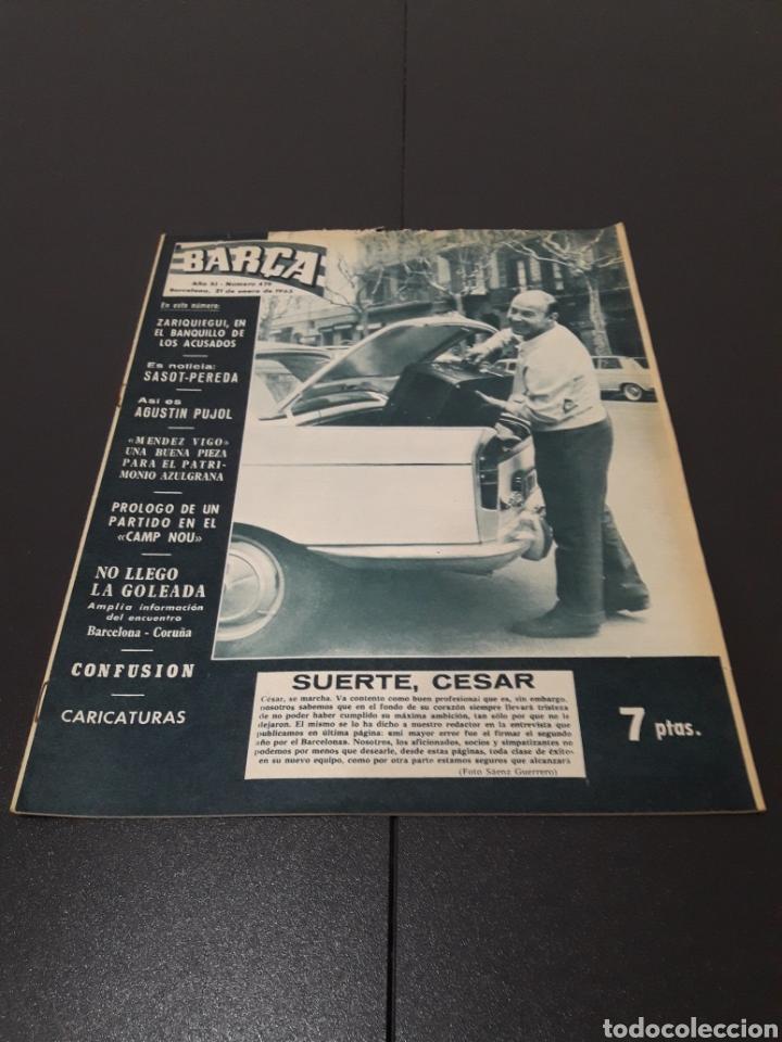REVISTA BARÇA. N° 479. ENERO 1965. (Coleccionismo Deportivo - Revistas y Periódicos - otros Fútbol)