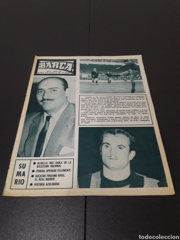 REVISTA BARÇA. N° 526. DICIEMBRE 1965. (Coleccionismo Deportivo - Revistas y Periódicos - otros Fútbol)
