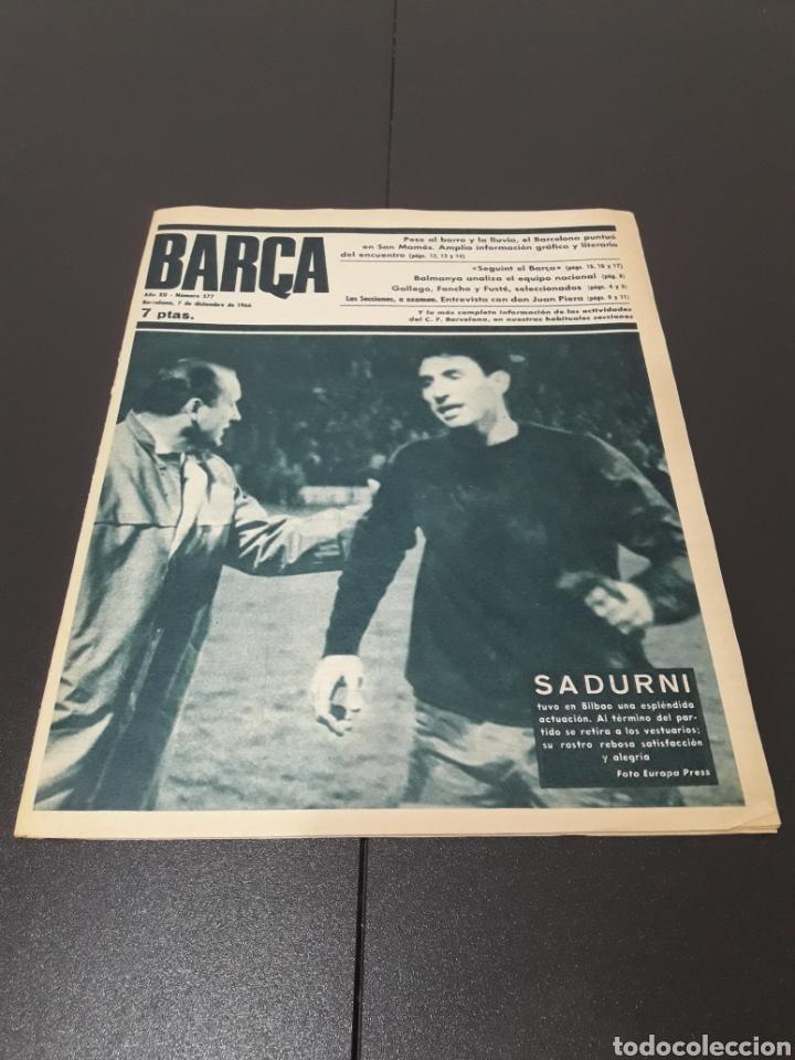 REVISTA BARÇA. N° 577. DICIEMBRE 1966. (Coleccionismo Deportivo - Revistas y Periódicos - otros Fútbol)