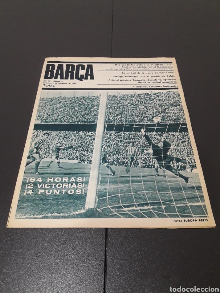 REVISTA BARÇA. N° 572. NOVIEMBRE 1966. (Coleccionismo Deportivo - Revistas y Periódicos - otros Fútbol)