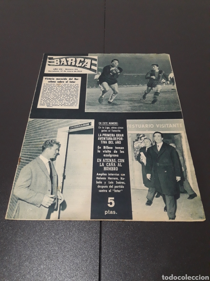 REVISTA BARÇA. N° 319. ENERO 1962. (Coleccionismo Deportivo - Revistas y Periódicos - otros Fútbol)