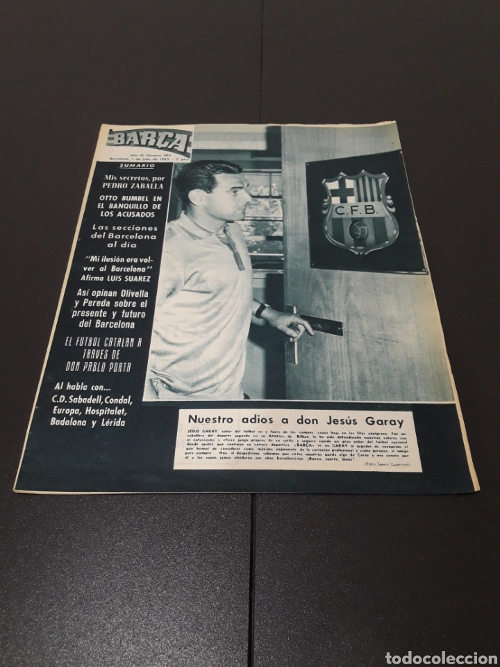 REVISTA BARÇA. N° 502. JULIO 1965. (Coleccionismo Deportivo - Revistas y Periódicos - otros Fútbol)