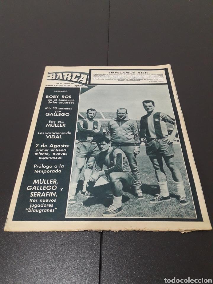 REVISTA BARÇA. N° 507. AGOSTO 1965. (Coleccionismo Deportivo - Revistas y Periódicos - otros Fútbol)