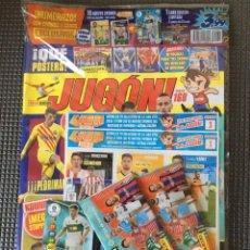 Coleccionismo deportivo: REVISTA JUGON N°168. RAUL GUTI -EDICIÓN LIMITADA ADRENALY+2 SOBRES + 18 FICHAJES MERCADO INVIERNO. Lote 246075765