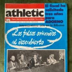 Coleccionismo deportivo: ANTIGUA REVISTA ATHLETIC NUM 51 1976 BILBAO ÓRGANO OFICIAL. Lote 246089905