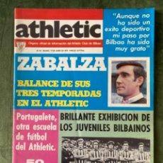Coleccionismo deportivo: ANTIGUA REVISTA ATHLETIC NUM 60 1976 BILBAO ÓRGANO OFICIAL. Lote 246093145