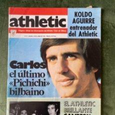 Collezionismo sportivo: ANTIGUA REVISTA ATHLETIC NUM 61 1976 BILBAO ÓRGANO OFICIAL TROFEO IBERICO BADAJOZ. Lote 246093410
