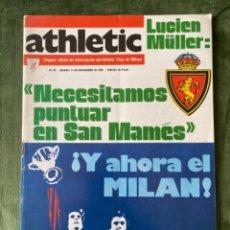 Coleccionismo deportivo: ANTIGUA REVISTA ATHLETIC NUM 81 1976 BILBAO ÓRGANO OFICIAL. Lote 246095790