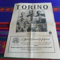Coleccionismo deportivo: PROGRAMA GRANDE AC TORINO VS SELECCIÓN CATALANA. 7 SEPTIEMBRE 1947. ESTADIO MONTJUICH 1 PESETA. RARO. Lote 246132230