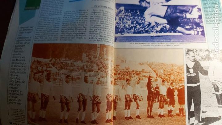 Coleccionismo deportivo: REVISTA DE FULBOL HISTORIAL DEL MUNDIAL 1930-1990 CAMPEONES DE LOS 60 BRASIL E INGLATERRA - Foto 4 - 246793930