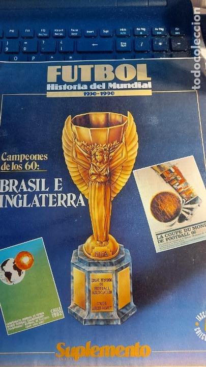 REVISTA DE FULBOL HISTORIAL DEL MUNDIAL 1930-1990 CAMPEONES DE LOS 60 BRASIL E INGLATERRA (Coleccionismo Deportivo - Revistas y Periódicos - otros Fútbol)