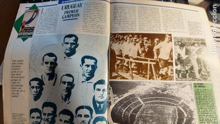 Coleccionismo deportivo: REVISTA DE FULBOL HISTORIAL DEL MUNDIAL 1930-1990 LA PRE-GUERRA - Foto 2 - 246794035