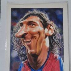 Coleccionismo deportivo: LEO MESSI CARICATURA ANTIGUA F. C.BARCELONA. VER FOTOS.. Lote 248302990
