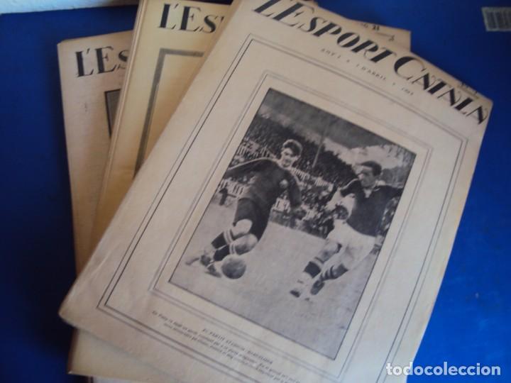 (F-210355)LOTE DE 62 EJEMPLARES L´SPORT CATALA - AÑOS 20 - JOAN GAMPER,SAMITIER,ALCANTARA,ETC. (Coleccionismo Deportivo - Revistas y Periódicos - otros Fútbol)