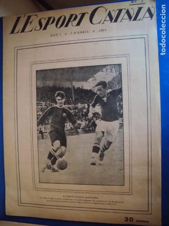 Coleccionismo deportivo: (F-210355)LOTE DE 62 EJEMPLARES L´SPORT CATALA - AÑOS 20 - JOAN GAMPER,SAMITIER,ALCANTARA,ETC. - Foto 2 - 248598965