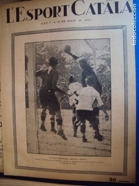 Coleccionismo deportivo: (F-210355)LOTE DE 62 EJEMPLARES L´SPORT CATALA - AÑOS 20 - JOAN GAMPER,SAMITIER,ALCANTARA,ETC. - Foto 7 - 248598965