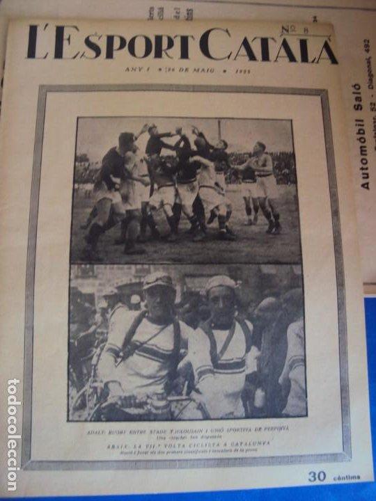 Coleccionismo deportivo: (F-210355)LOTE DE 62 EJEMPLARES L´SPORT CATALA - AÑOS 20 - JOAN GAMPER,SAMITIER,ALCANTARA,ETC. - Foto 8 - 248598965