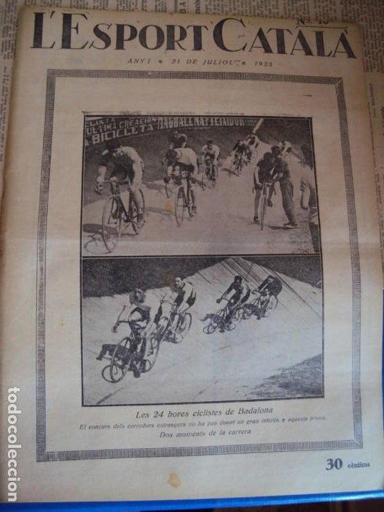 Coleccionismo deportivo: (F-210355)LOTE DE 62 EJEMPLARES L´SPORT CATALA - AÑOS 20 - JOAN GAMPER,SAMITIER,ALCANTARA,ETC. - Foto 14 - 248598965