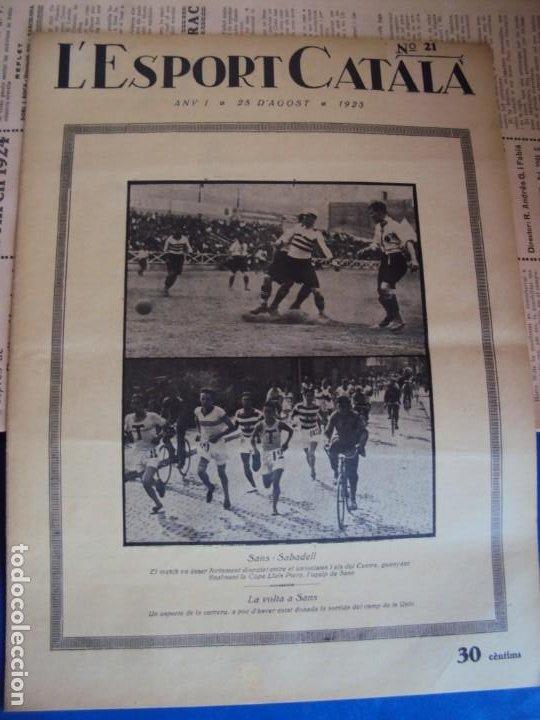 Coleccionismo deportivo: (F-210355)LOTE DE 62 EJEMPLARES L´SPORT CATALA - AÑOS 20 - JOAN GAMPER,SAMITIER,ALCANTARA,ETC. - Foto 15 - 248598965