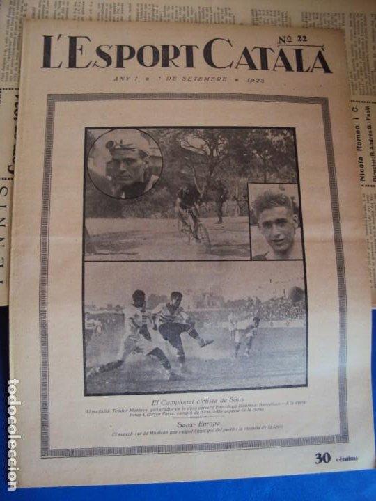Coleccionismo deportivo: (F-210355)LOTE DE 62 EJEMPLARES L´SPORT CATALA - AÑOS 20 - JOAN GAMPER,SAMITIER,ALCANTARA,ETC. - Foto 16 - 248598965