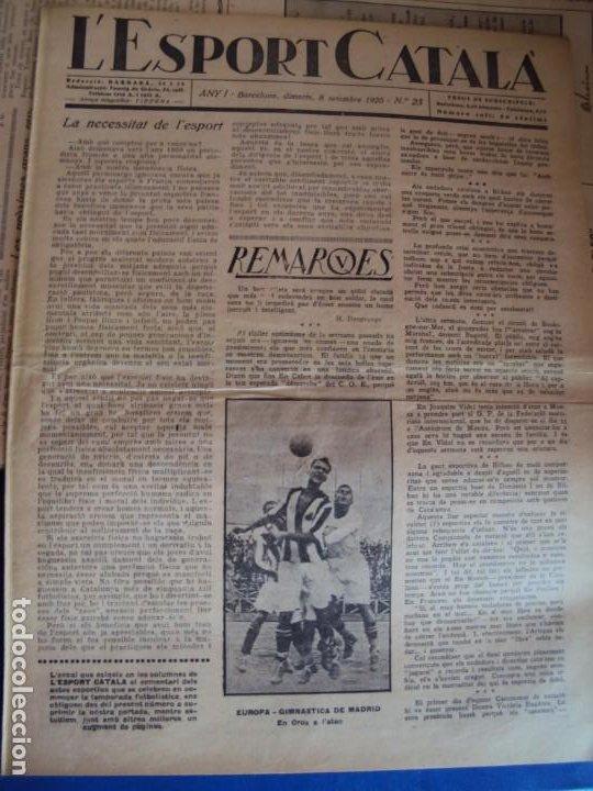 Coleccionismo deportivo: (F-210355)LOTE DE 62 EJEMPLARES L´SPORT CATALA - AÑOS 20 - JOAN GAMPER,SAMITIER,ALCANTARA,ETC. - Foto 17 - 248598965