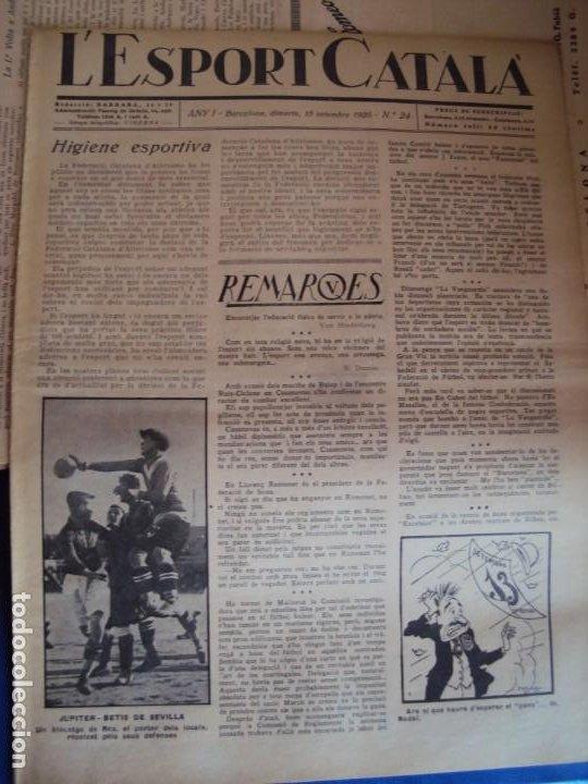 Coleccionismo deportivo: (F-210355)LOTE DE 62 EJEMPLARES L´SPORT CATALA - AÑOS 20 - JOAN GAMPER,SAMITIER,ALCANTARA,ETC. - Foto 18 - 248598965
