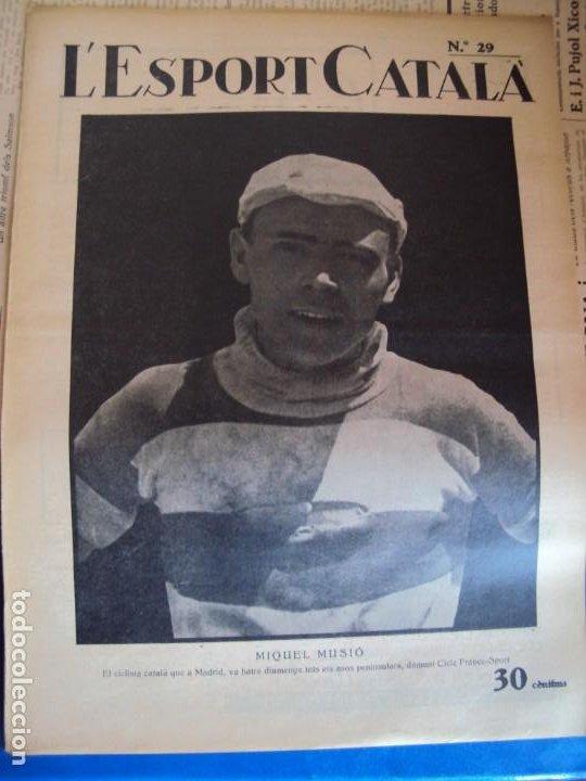 Coleccionismo deportivo: (F-210355)LOTE DE 62 EJEMPLARES L´SPORT CATALA - AÑOS 20 - JOAN GAMPER,SAMITIER,ALCANTARA,ETC. - Foto 23 - 248598965