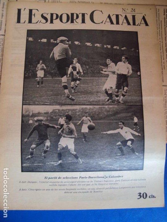 Coleccionismo deportivo: (F-210355)LOTE DE 62 EJEMPLARES L´SPORT CATALA - AÑOS 20 - JOAN GAMPER,SAMITIER,ALCANTARA,ETC. - Foto 25 - 248598965