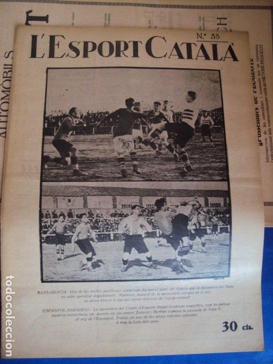 Coleccionismo deportivo: (F-210355)LOTE DE 62 EJEMPLARES L´SPORT CATALA - AÑOS 20 - JOAN GAMPER,SAMITIER,ALCANTARA,ETC. - Foto 28 - 248598965