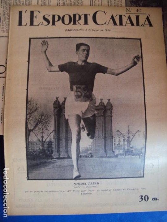 Coleccionismo deportivo: (F-210355)LOTE DE 62 EJEMPLARES L´SPORT CATALA - AÑOS 20 - JOAN GAMPER,SAMITIER,ALCANTARA,ETC. - Foto 33 - 248598965