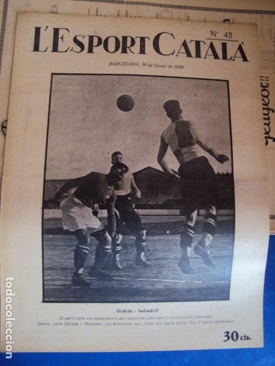 Coleccionismo deportivo: (F-210355)LOTE DE 62 EJEMPLARES L´SPORT CATALA - AÑOS 20 - JOAN GAMPER,SAMITIER,ALCANTARA,ETC. - Foto 34 - 248598965
