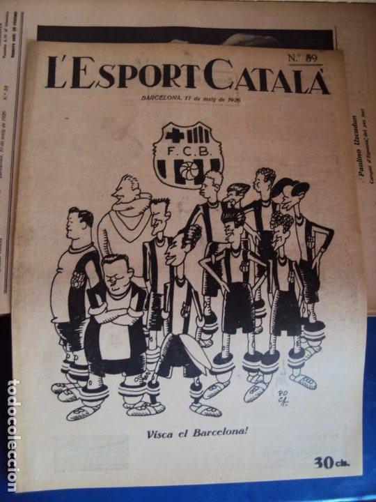 Coleccionismo deportivo: (F-210355)LOTE DE 62 EJEMPLARES L´SPORT CATALA - AÑOS 20 - JOAN GAMPER,SAMITIER,ALCANTARA,ETC. - Foto 42 - 248598965