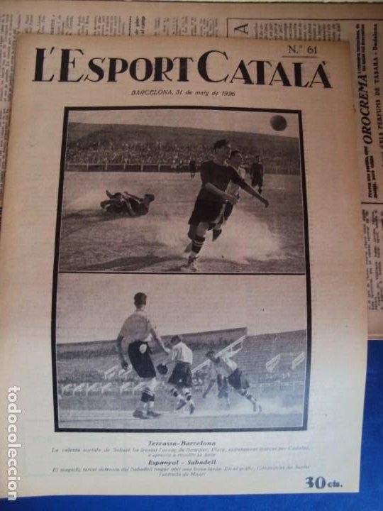 Coleccionismo deportivo: (F-210355)LOTE DE 62 EJEMPLARES L´SPORT CATALA - AÑOS 20 - JOAN GAMPER,SAMITIER,ALCANTARA,ETC. - Foto 44 - 248598965