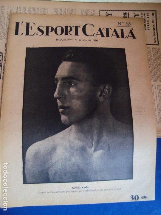 Coleccionismo deportivo: (F-210355)LOTE DE 62 EJEMPLARES L´SPORT CATALA - AÑOS 20 - JOAN GAMPER,SAMITIER,ALCANTARA,ETC. - Foto 46 - 248598965